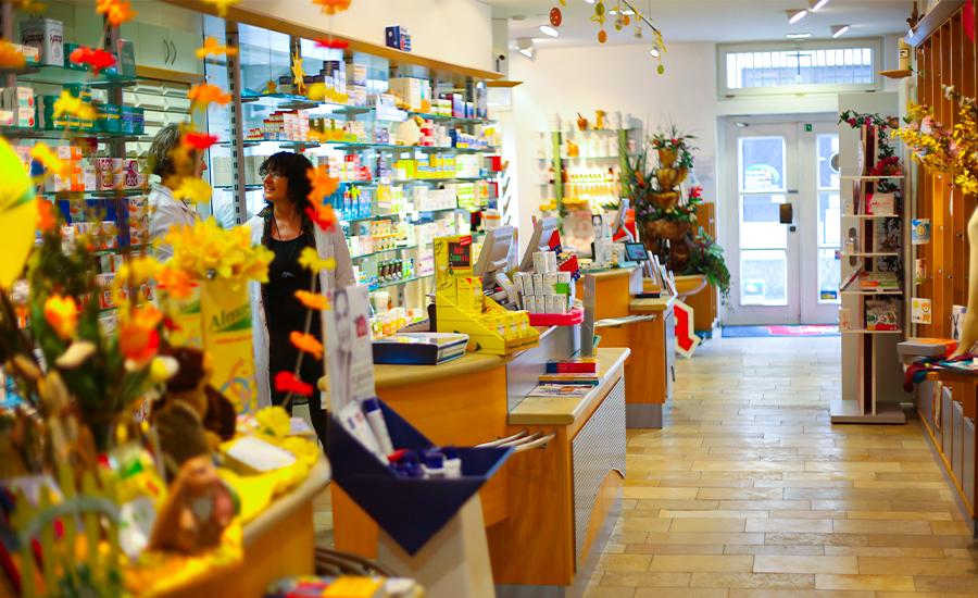 Rathaus Apotheke, Verkaufsraum